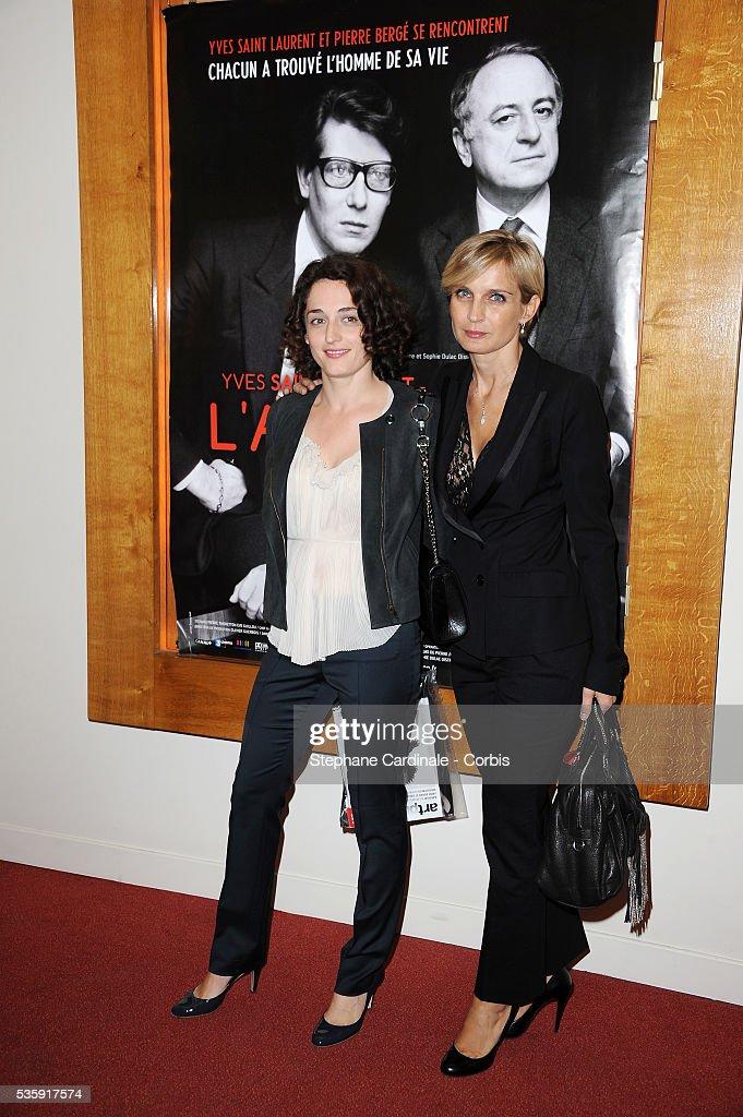 Eva Thoretton and Melita Toscan Du Plantier attend the premiere of 'L'Amour Fou - Yves Saint Laurent - Pierre Berge' in Paris.