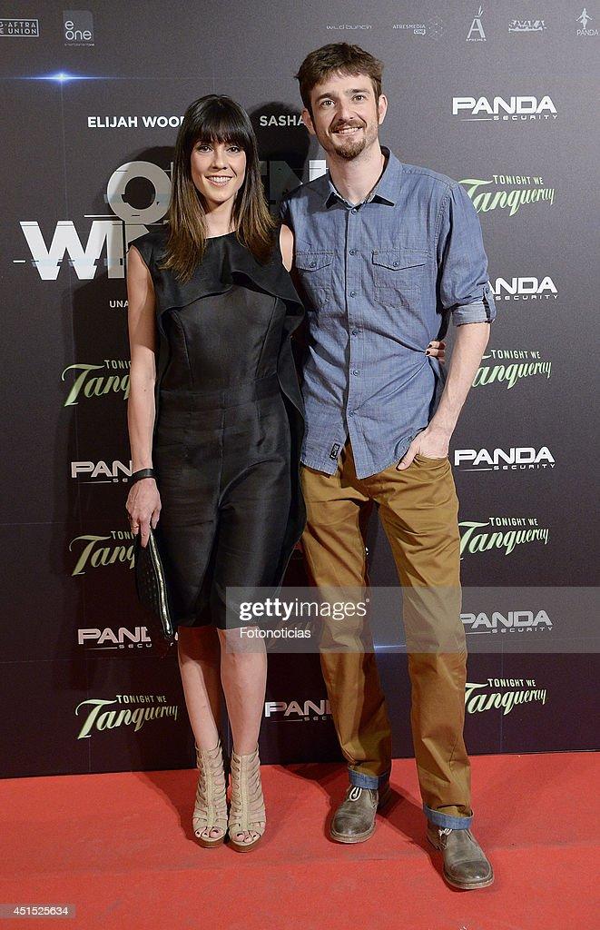 Eva Ugarte and Gorka Otxoa attend the 'Open Windows' premiere at Capitol cinema on June 30, 2014 in Madrid, Spain.