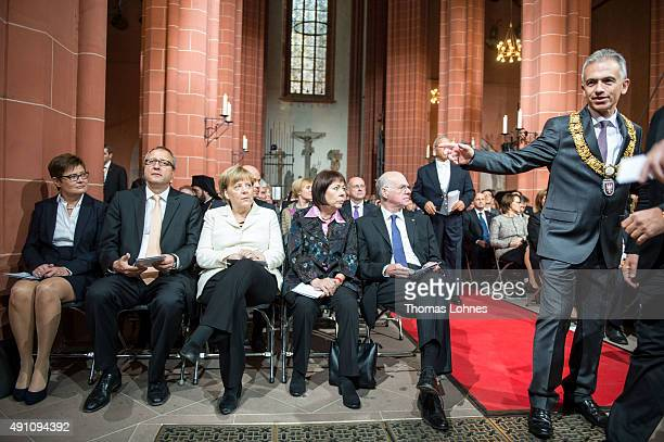 Eva Vosskuhle the President of the Federal Constitutional Court Andreas Vosskuhle Chancellor Angela Merkel Gertrud Lammer the President of the...