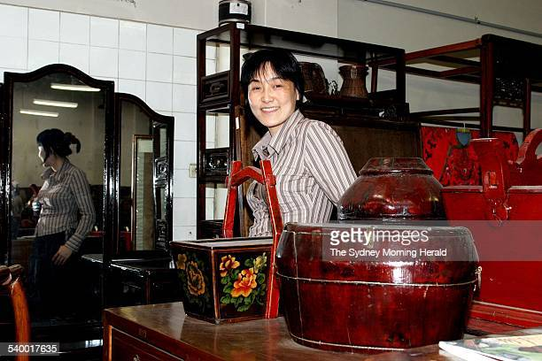 Eva Xu from Oriental Arts oriental antiques furnishings and objects at 144 McEvoy Street Alexandria 8 September 2004 SMH DOMAIN Picture by DOMINO...