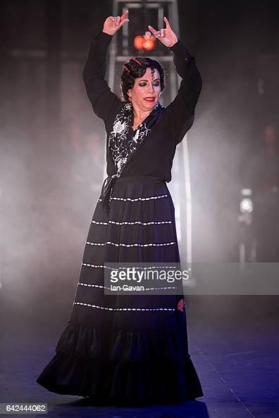 Eva Yerbabuena performs 'Apariencias' Part of The Sadlers Wells Flamenco festival at Sadlers Wells Theatre on February 17 2017 in London England