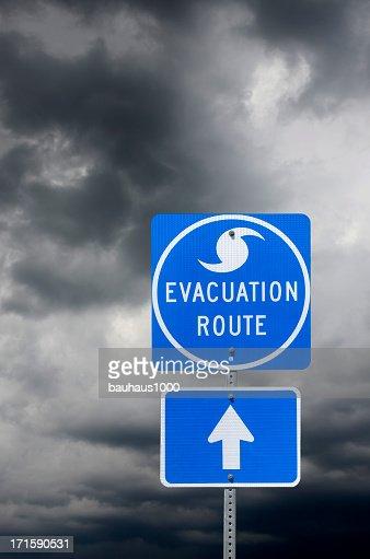 避難ルート標識