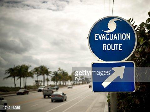 フロリダで避難ルート標識