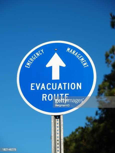 Evakuierung route