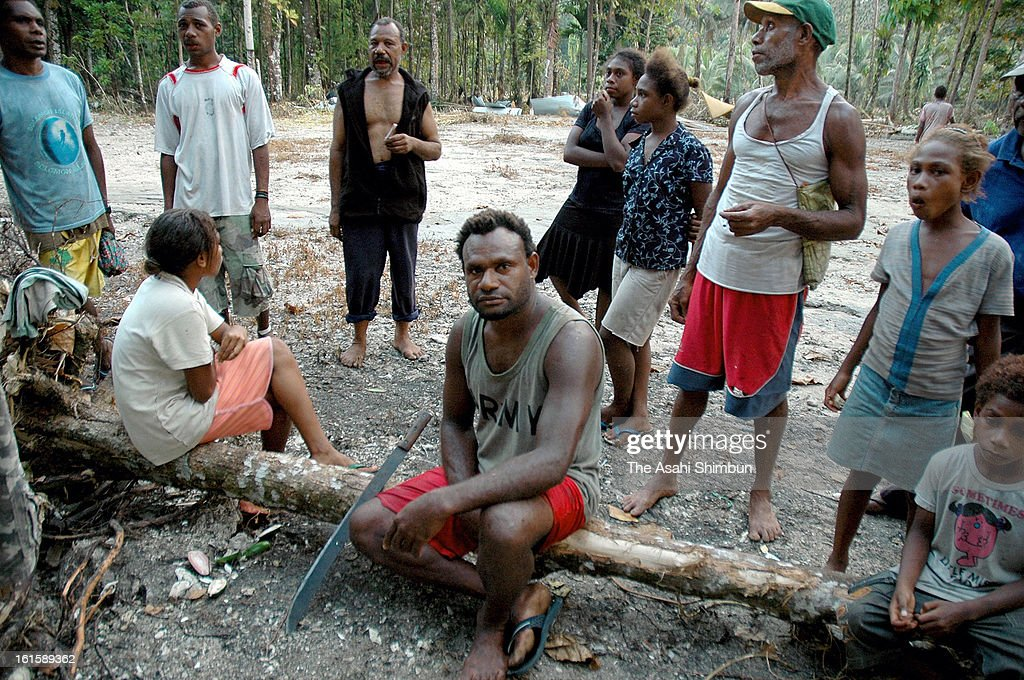 Evacuees are seen at an evacuation camp near Lata on February 09, 2013 in Nendo Island, Solomon Islands. A Magnitude 8.0 earthquake jolted Solomon Islands, at least 10 people were killed.