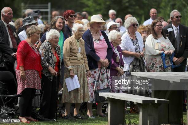 Evacuees attend the unveiling of 'Every Which Way' The British Evacuees Association Memorial as it was unveiled today by HRH The Duke of Gloucester...