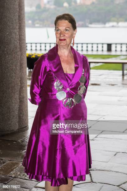 EvaLouise Erlandsson Slorach president of the city council arrives at Stockholm city hall for an official dinner on May 30 2017 in Stockholm Sweden
