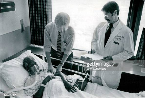 JUL 18 1981 JUL 19 1981 Evaluating The Nutritional Status of A Trauma Patient Nurse Todd Jones top checks nutritional status of patient Dorothy Byrd...