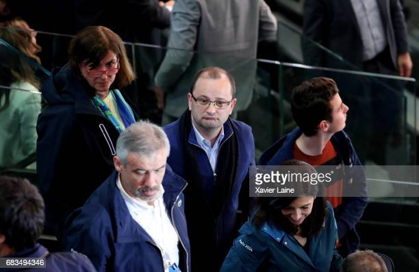 Evaluation Commission Chairman Patrick Baumann attends the 2017 IIHF Ice Hockey World Championship game between France and Slovenia at AccorHotels...