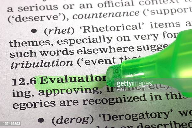 Bewertung definition highligted Grün Wort aus dem Wörterbuch