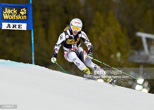 EvaMaria Brem of Austria competes during the Audi FIS Alpine Ski World Cup Women's Giant Slalom on March 06 2014 in Are Sweden