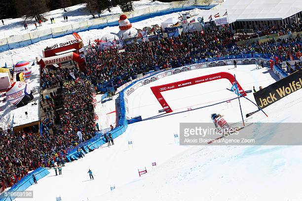 EvaMaria Brem of Austria wins the giant slalom crystal globe during the Audi FIS Alpine Ski World Cup Finals Men's Slalom and Women's Giant Slalom on...