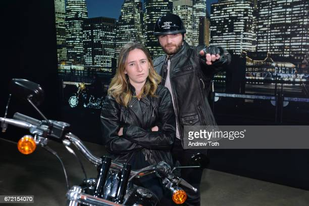 Evan Ari Kelman and Parker Hill attend the Shorts Filmmaker Party during the 2017 Tribeca Film Festival at HarleyDavidson of New York City on April...