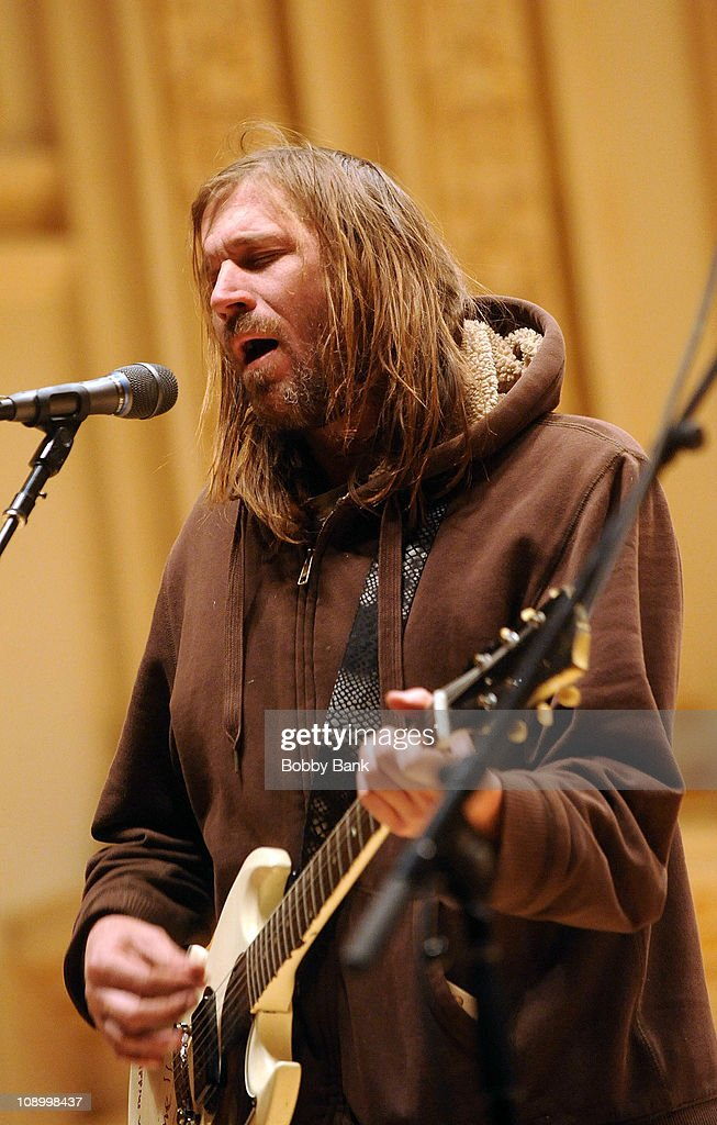 Evan Dando of Juliana & Evan rehearses for The Music of Neil Young at Carnegie Hall on February 10, 2011 in New York City.