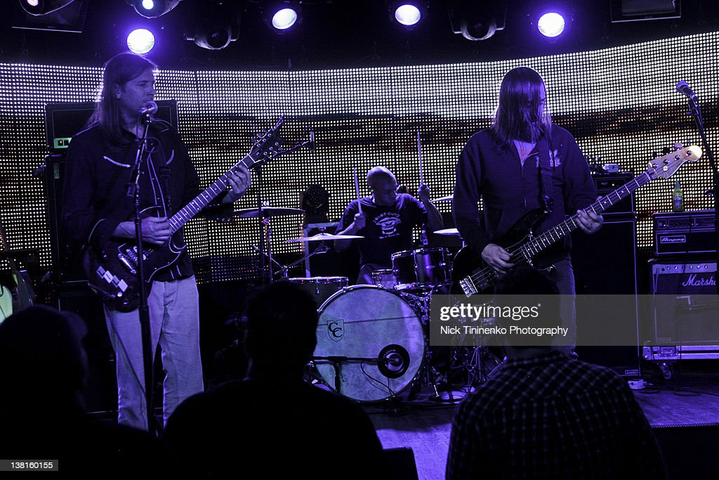 Evan Dando (L) of The Lemonheads performing on February 2, 2012 in Aspen, Colorado.