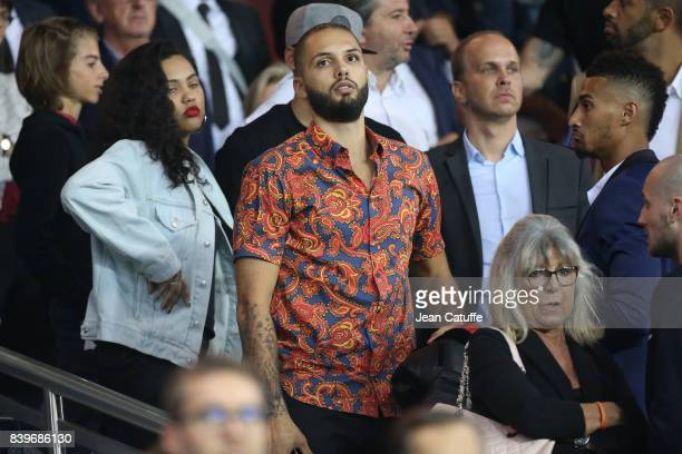 Evan Fournier of Orlando Magic attends the French Ligue 1 match between Paris Saint Germain and AS SaintEtienne at Parc des Princes on August 25 2017...