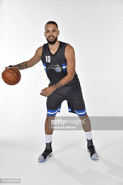Evan Fournier of the Orlando Magic poses for a portrait during NBA Media Day on September 26 2016 at Amway Center in Orlando Florida NOTE TO USER...