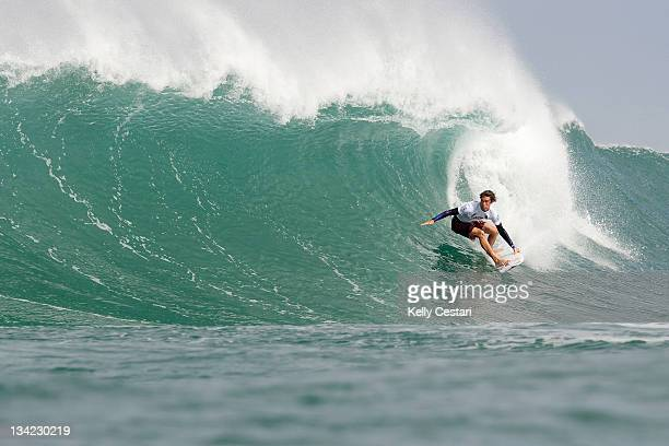 Evan Geiselman of Hawaii advances into Round 3 of the VANS World Cup of Surfing after placing second his Round 2 heat on November 28 2011 in Sunset...