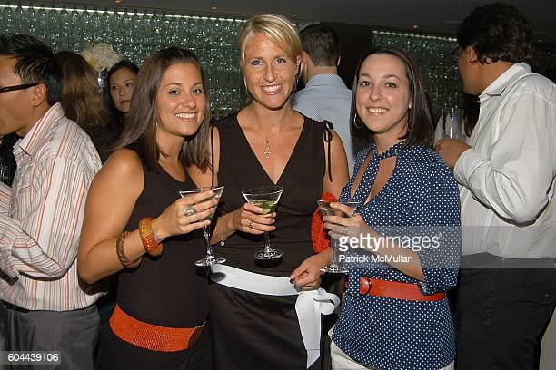 Evan Goldstein Kate Northrup and Lia LoBello attend ECLIPSE and ZAGAT SURVEY 2006 'Dare to Dine Guide' Launch Party at Morimoto on August 15 2006 in...
