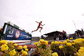 Evan Jager competes on his way to placing first in the Men's 3000 Meter Steeplechase Final during the 2016 US Olympic Track Field Team Trials at...