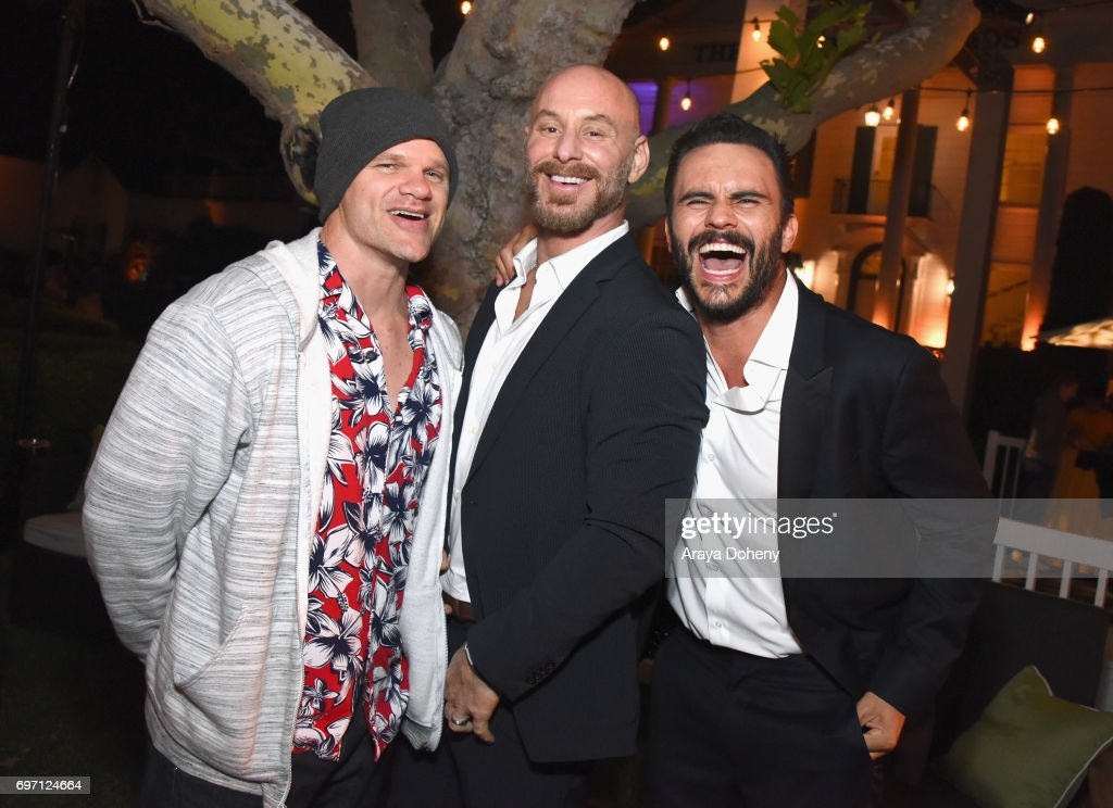 Evan Jones, Matt Gerald and Juan Pablo Raba attend the 'Shot Caller' Gala After Party during the 2017 Los Angeles Film Festival on June 17, 2017 in Culver City, California.