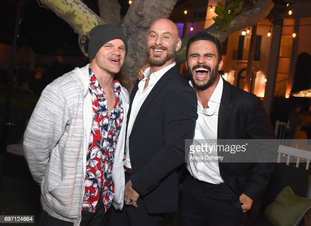 Evan Jones Matt Gerald and Juan Pablo Raba attend the 'Shot Caller' Gala After Party during the 2017 Los Angeles Film Festival on June 17 2017 in...