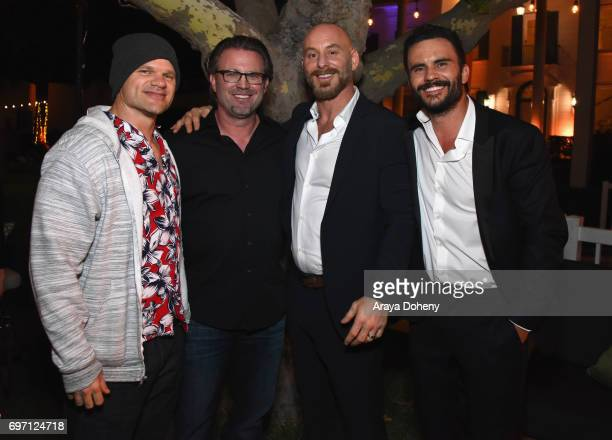 Evan Jones Ric Roman Waugh Matt Gerald and Juan Pablo Raba attend the 'Shot Caller' Gala After Party during the 2017 Los Angeles Film Festival on...