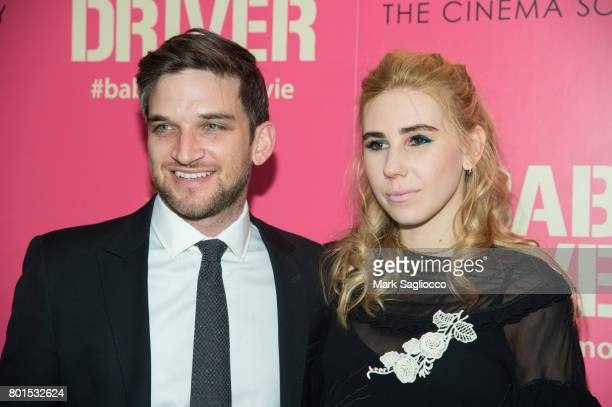 Evan Jonigkeit and Actress Zosia Mamet attend TriStar Pictures The Cinema Society and Avion's screening of 'Baby Driver' at The Metrograph on June 26...