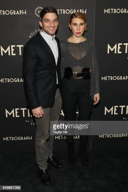 Evan Jonigkeit and Zosia Mamet attend the Metrograph 1st Year Anniversary Party at Metrograph on March 8 2017 in New York City