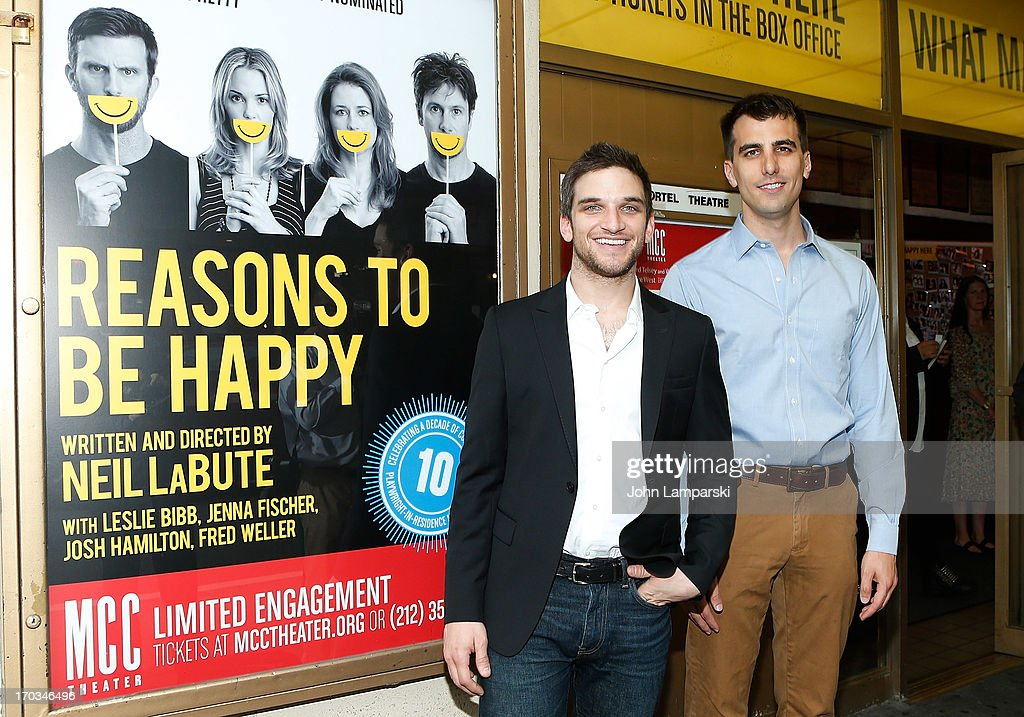 Evan Jonikeit and Paul Downs Colaizzo attend 'Reasons To Be Happy' Broadway Opening Night at the Lucille Lortel Theatre on June 11, 2013 in New York City.