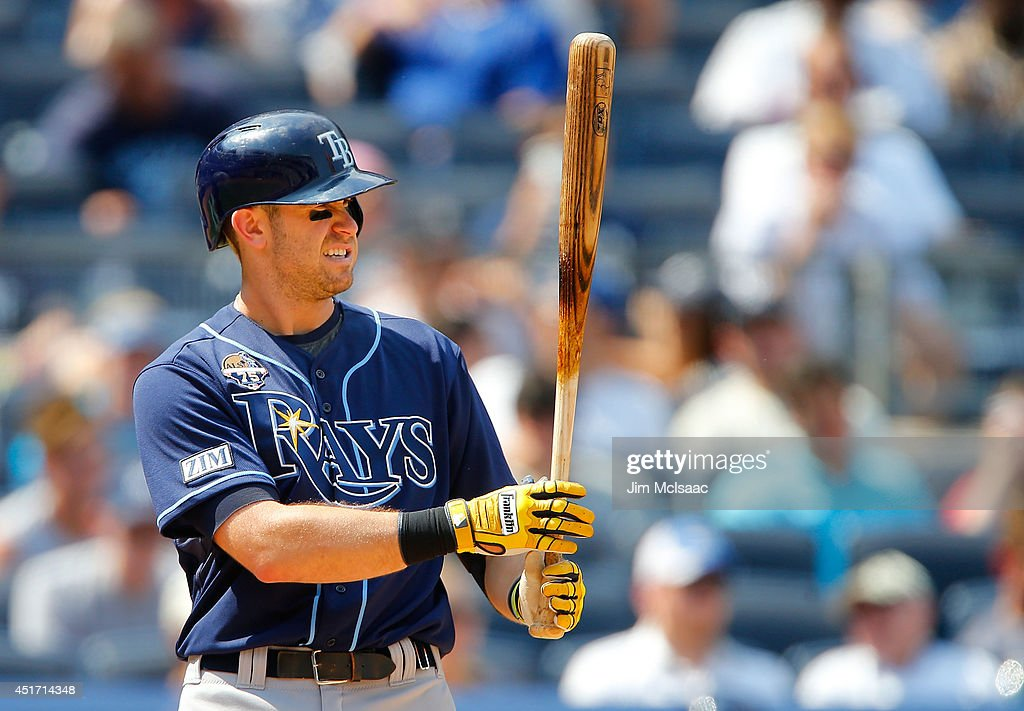 Evan Longoria #3 of the Tampa Bay Rays in action against the New York Yankees at Yankee Stadium on July 2, 2014 in the Bronx borough of New York City. The Rays defeated the Yankees 6-3.