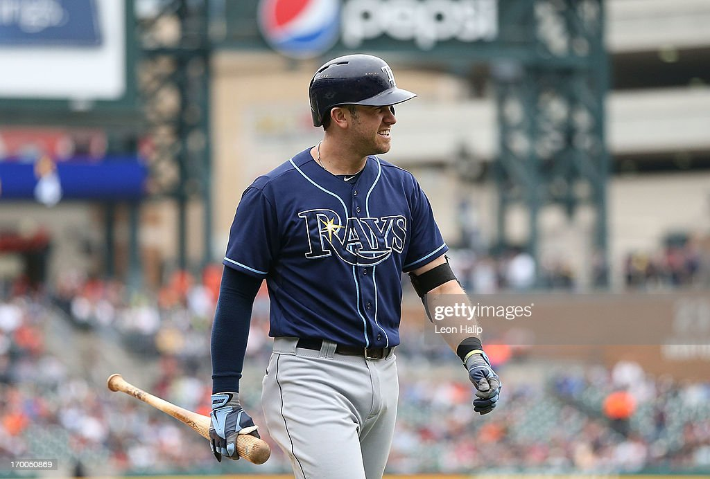 <a gi-track='captionPersonalityLinkClicked' href=/galleries/search?phrase=Evan+Longoria&family=editorial&specificpeople=2349329 ng-click='$event.stopPropagation()'>Evan Longoria</a> #3 of the Tampa Bay Rays walks back to the dugout after striking out in the fourth inning during the game against the Detroit Tigers at Comerica Park on June 6, 2013 in Detroit, Michigan. The Tigers defeated the Rays 5-2.