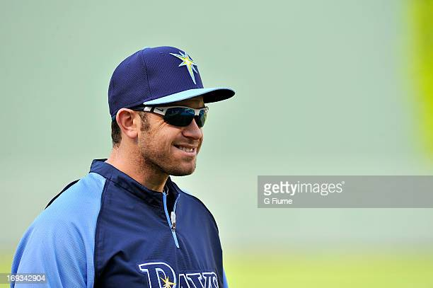 Evan Longoria of the Tampa Bay Rays warms up before the game against the Baltimore Orioles at Oriole Park at Camden Yards on May 17 2013 in Baltimore...