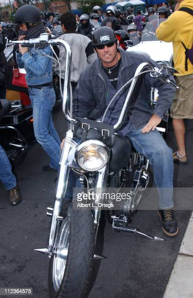Evan Marriott during The 20th Love Ride For MDA at Glendale Harley Davidson in Glendale California United States