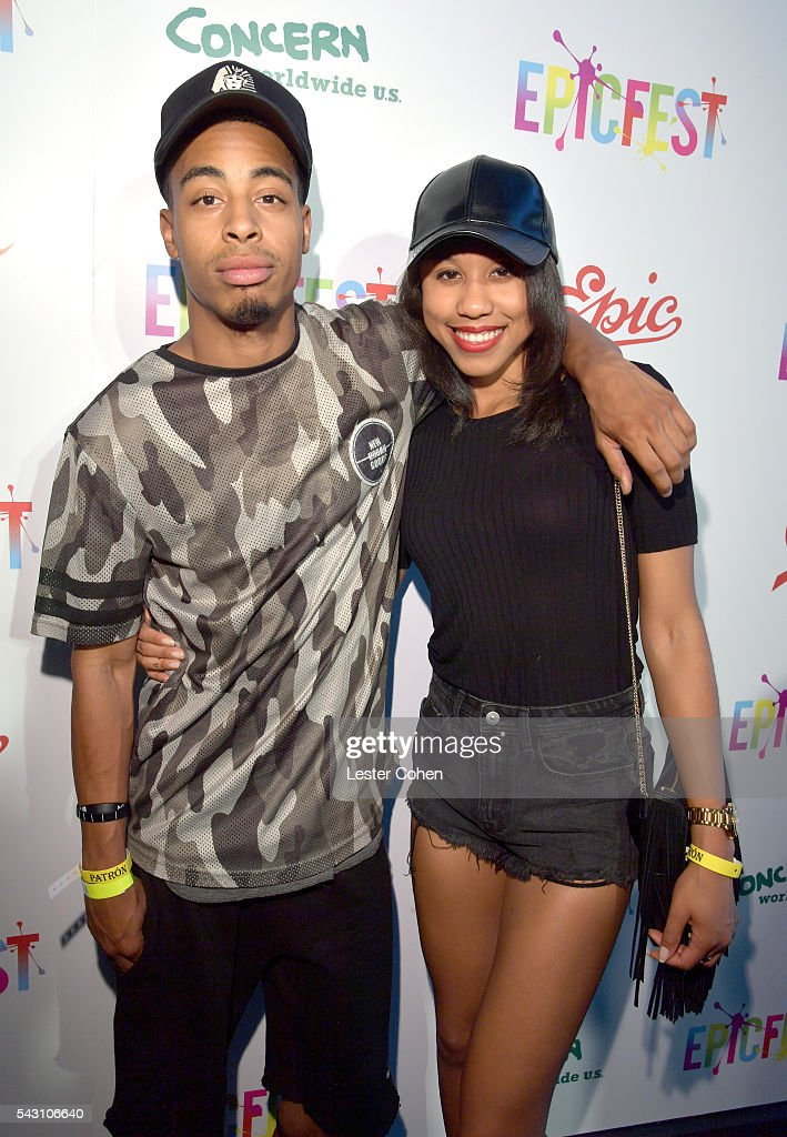 Evan Moody (L) and Kiara attend EpicFest 2016 hosted by L.A. Reid and Epic Records at Sony Studios on June 25, 2016 in Los Angeles, California.