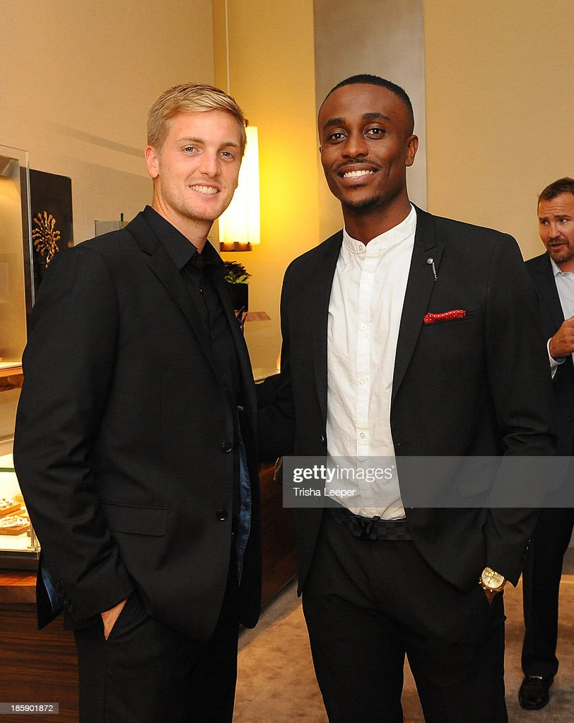 Evan Newton and Nashmil Sadjndi attend the David Yurman Launch of The Meteorite Collection With Kent Bazemore at Westfield Valley Fair on October 25, 2013 in Santa Clara, California.