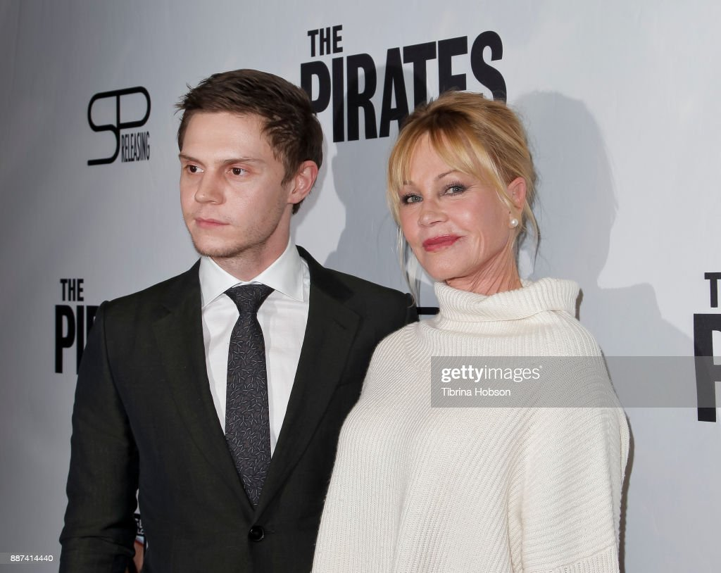 Evan Peters and Melanie Griffith attend the premiere of 'The Pirates Of Somalia' at TCL Chinese 6 Theatres on December 6, 2017 in Hollywood, California.