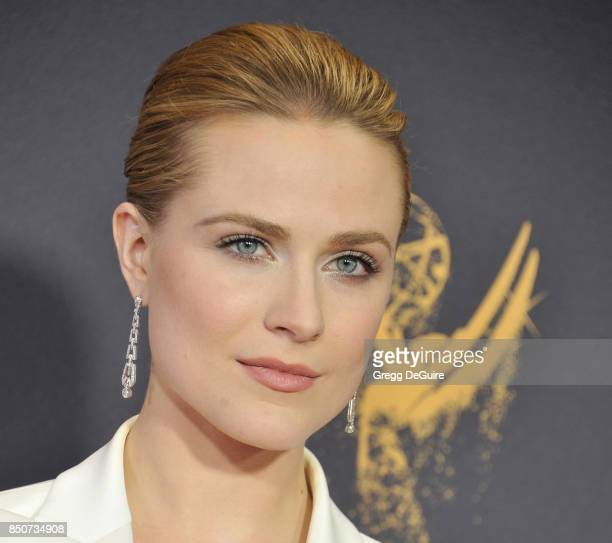 Evan Rachel Wood arrives at the 69th Annual Primetime Emmy Awards at Microsoft Theater on September 17 2017 in Los Angeles California
