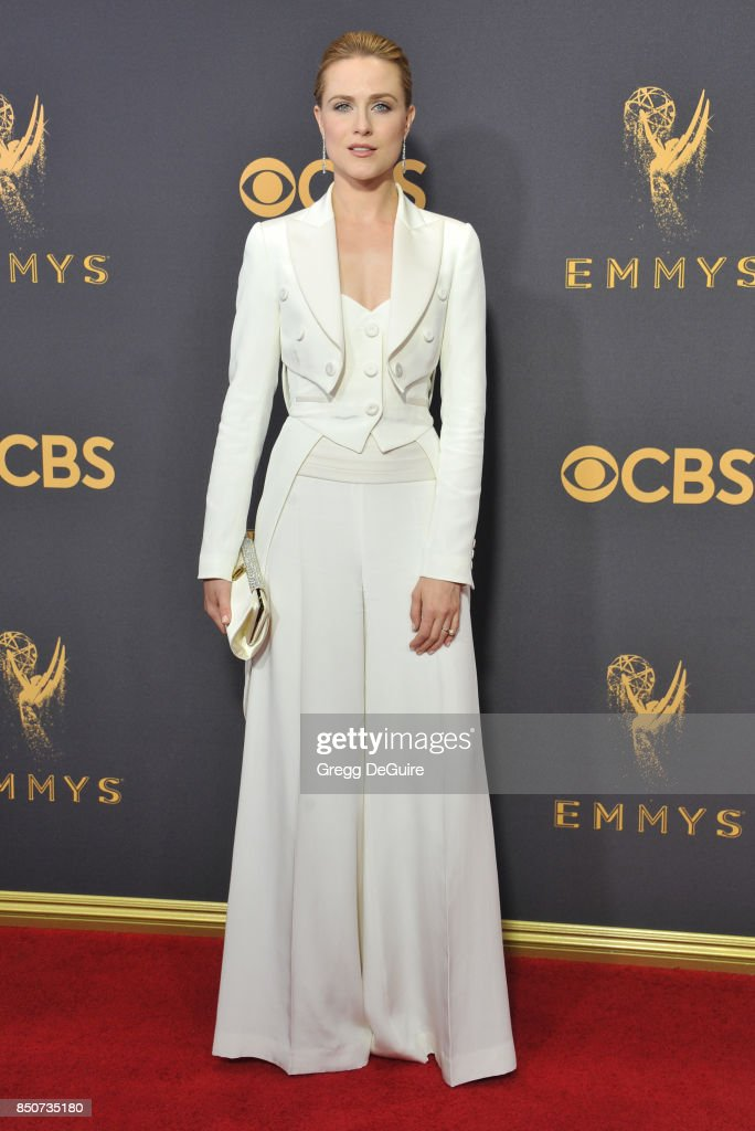 Evan Rachel Wood arrives at the 69th Annual Primetime Emmy Awards at Microsoft Theater on September 17, 2017 in Los Angeles, California.