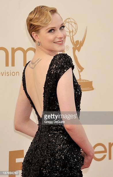 Evan Rachel Wood arrives at the Academy of Television Arts Sciences 63rd Primetime Emmy Awards at Nokia Theatre LA Live on September 18 2011 in Los...