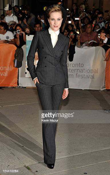 Evan Rachel Wood arrives to 'The Ides Of March' premiere at Roy Thomson Hall during the 2011 Toronto International Film Festival on September 9 2011...