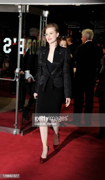 Evan Rachel Wood attends a Gala Screening of 'The Ides Of March' during the 55th BFI London Film Festival at Odeon Leicester Square on October 19...