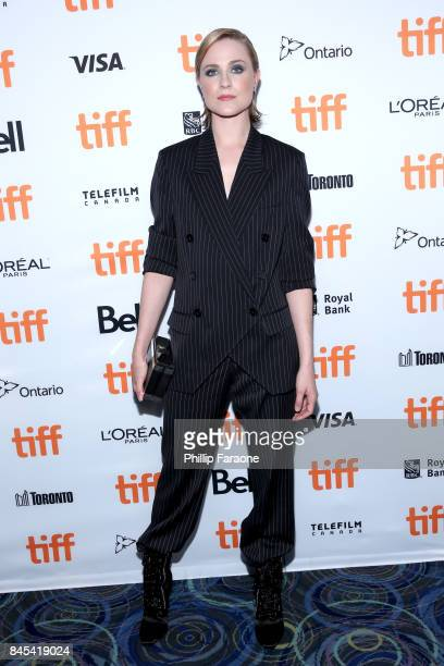 Evan Rachel Wood attends the 'A Worthy Companion' premiere during the 2017 Toronto International Film Festival at Scotiabank Theatre on September 10...