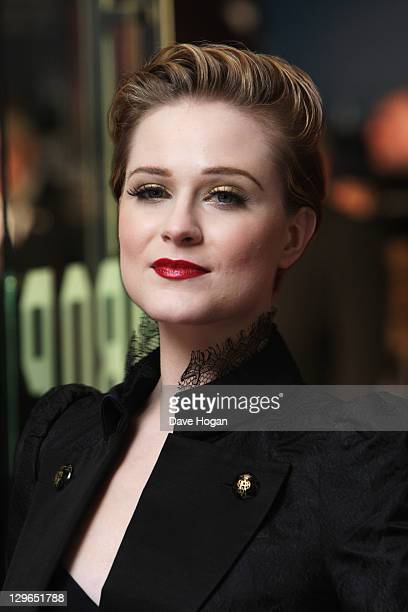 Evan Rachel Wood attends the gala screening for 'The Ides Of March' at The 55th BFI London Film Festival at The Odeon Leicester Square on October 19...