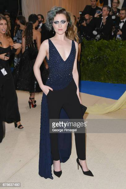 Evan Rachel Wood attends the 'Rei Kawakubo/Comme des Garcons Art Of The InBetween' Costume Institute Gala at Metropolitan Museum of Art on May 1 2017...
