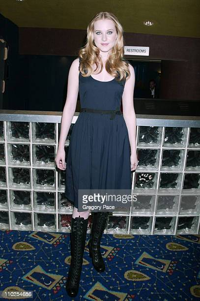 Evan Rachel Wood during 'Pretty Persuasion' New York City Premiere Inside Arrivals at Clearview Chelsea West in New York City New York United States