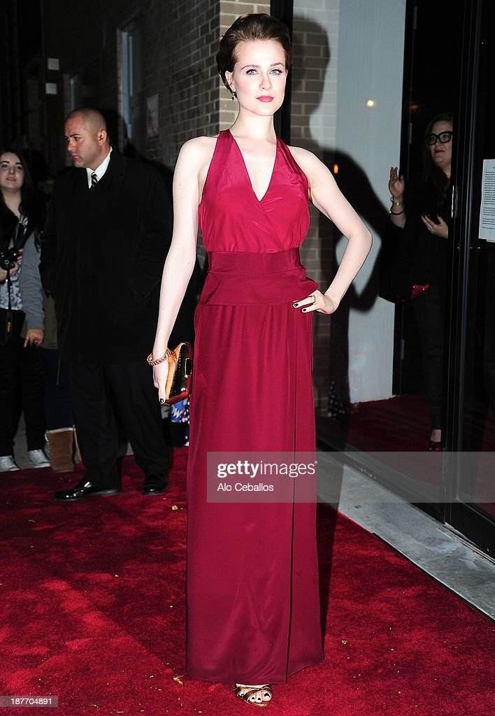 <a gi-track='captionPersonalityLinkClicked' href=/galleries/search?phrase=Evan+Rachel+Wood&family=editorial&specificpeople=203074 ng-click='$event.stopPropagation()'>Evan Rachel Wood</a> is seen arriving at CFDA awards on November 11, 2013 in New York City.