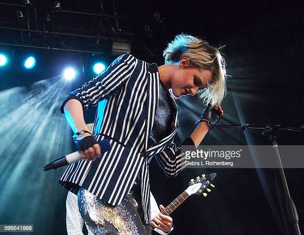 Evan Rachel Wood performs during the 2nd Annual Elsie Fest at Ford Amphitheater at Coney Island Boardwalk on September 5 2016 in Brooklyn New York