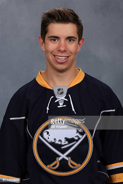 Evan Rodrigues of the Buffalo Sabres poses for his official headshot of the 20162017 season on September 22 2016 at the KeyBank Center in Buffalo New...