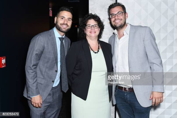 Evan Rosenberg Lisa Grossberg and Daniel Rieger attend as Fortuna Realty Group opens Sir Henri New York City's first penthouse speakeasy on July 26...